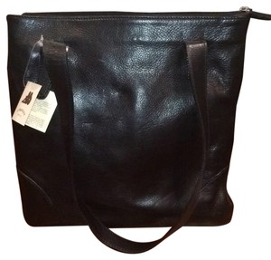 I Fratelli Leather Tote in Black