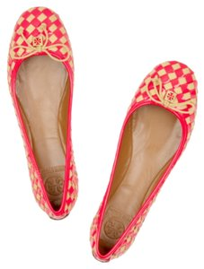 Tory Burch Red Nude Flats