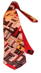 VARIOUS OSCAR DE LA RENTA, DIONNE VON FUSTENBURG MULTIPLE TOP FASHION DESIGNERS COLLAGE NECKTIE