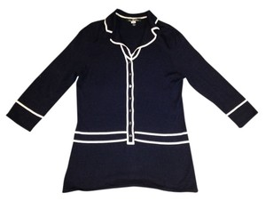 2857286fb6241 Brooks Brothers Preppy Classic Designer Couture Top Blue