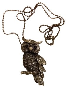 Marcasite Stone Owl Necklace