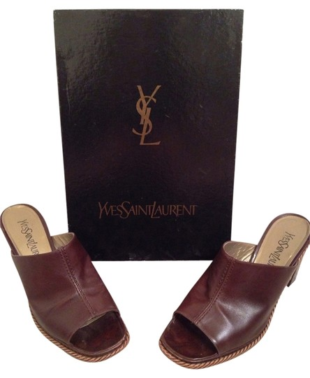 Saint Laurent Brown Mules