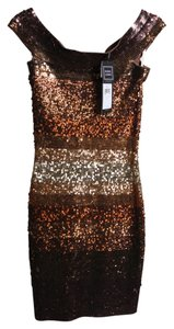 Hervé Leger Gold Sequin Dress