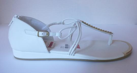 Rampage Leather White Sandals