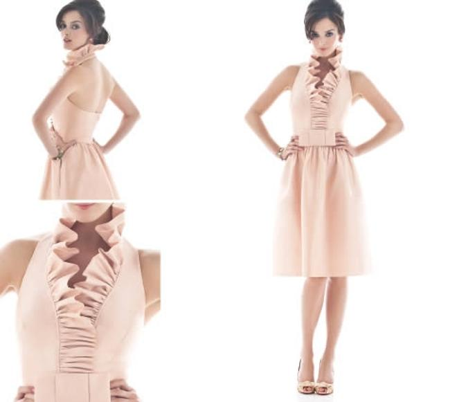 Item - Pearl Pink D468 Casual Bridesmaid/Mob Dress Size 4 (S)