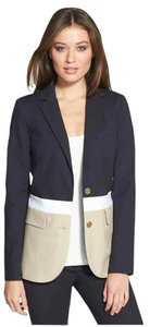 Michael Kors Navy, White and Khaki Blazer