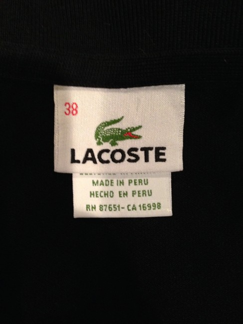 Lacoste Polo Size 38 Top Black