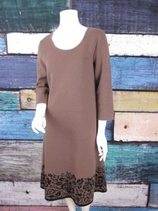 Anne Klein short dress Brown, Black Brown Floral on Tradesy