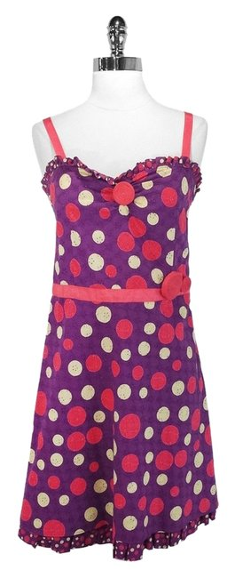 Preload https://item4.tradesy.com/images/moschino-purplepink-cotton-dot-above-knee-short-casual-dress-size-12-l-1393908-0-0.jpg?width=400&height=650