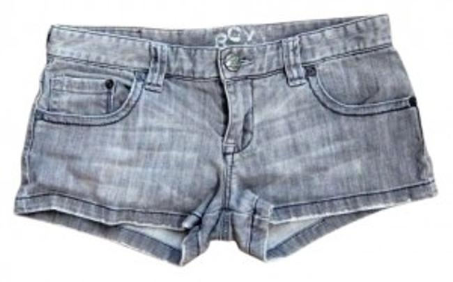 Roxy Denim Distressed Shorts Grey