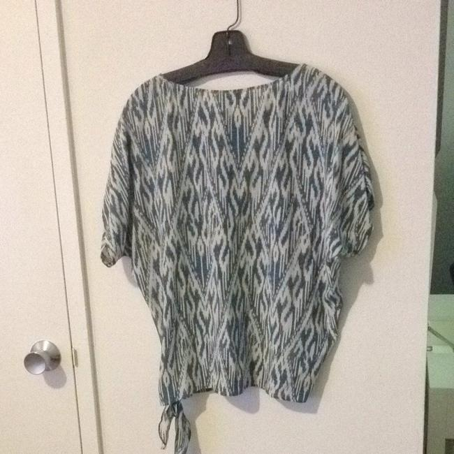 Joie Top Blue and White