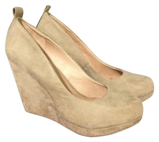Pegabo Taupe/ Nude Wedges