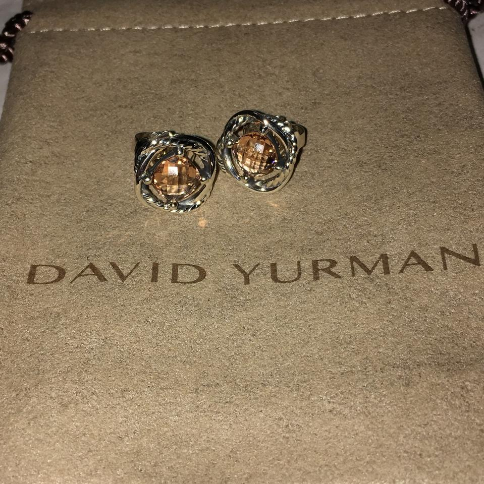 David Yurman Infinity Earrings With Morganite