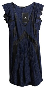 Balenciaga short dress Blue Navy Black Jacquard on Tradesy