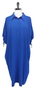 Max Mara short dress Cobalt Blue Silk on Tradesy