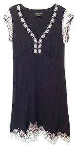 BCBGMAXAZRIA short dress Black with red and white Bcbg Large New on Tradesy