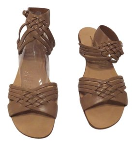 Roberto Del Carlo Woven Strap Accent Neutral Color Made Comfortable Made In Italy Brown Sandals
