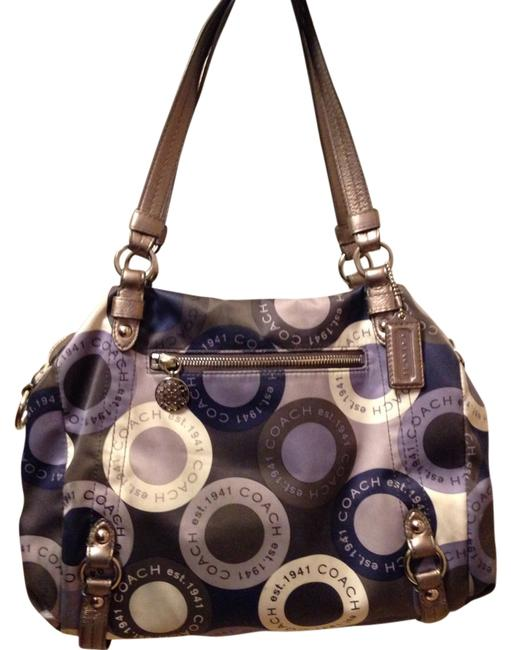 Item - Blue and Silver Satin Hobo Bag