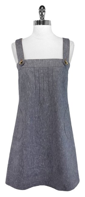 Shoshanna short dress Denim Cotton Linen on Tradesy