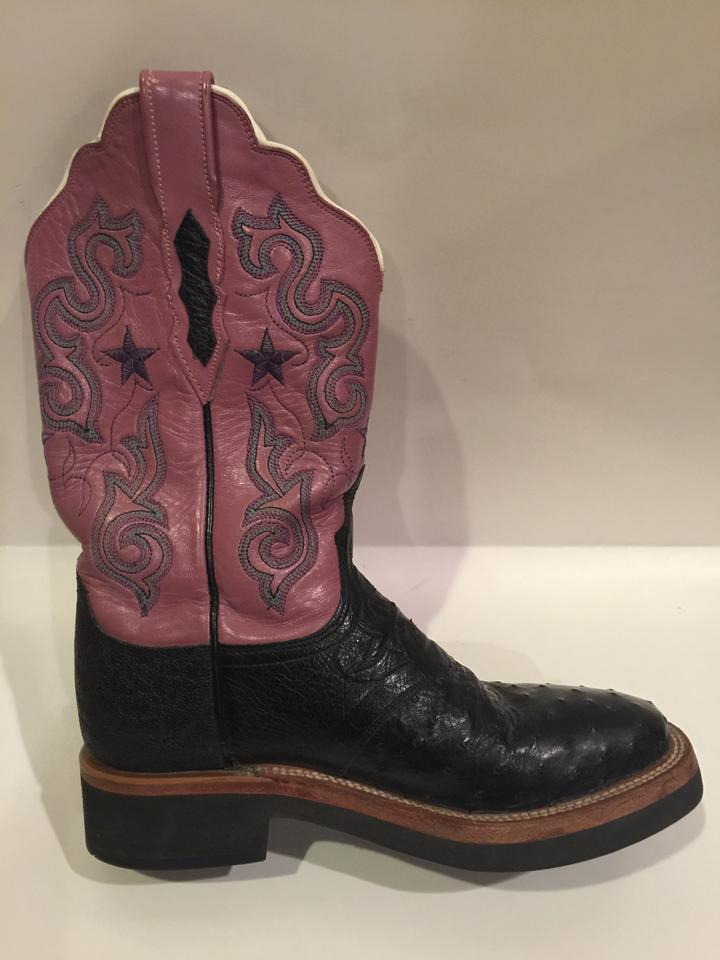 7bd51603d4c Lucchese Black and Purple 2000 Cowboy Boots/Booties Size US 7 Regular (M,  B) 70% off retail