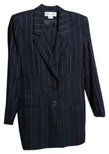 Dior * Christian Dior Vintage Pin Stripe Dress Suit - Size Medium (8)