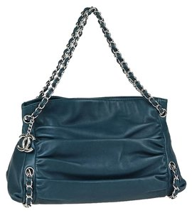 Chanel Lambskin Chain Tote Satchel Shoulder Bag