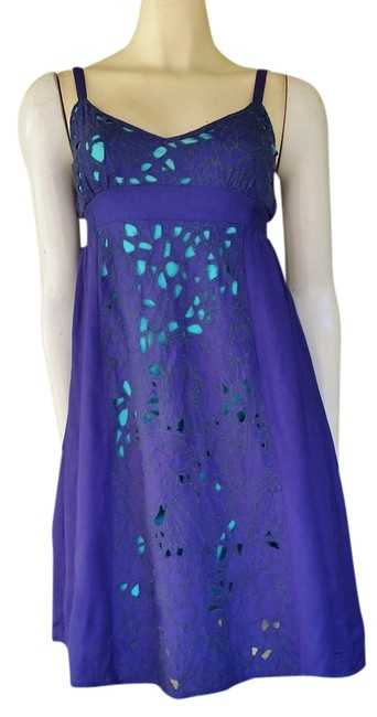 Ecote short dress Blue Urban Outfitters Royal Juniors Cut-outs Adjustable Straps on Tradesy