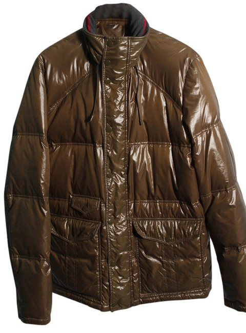 Gucci Greenish Brown Mens Green Puffer Jacket Xxl Coat