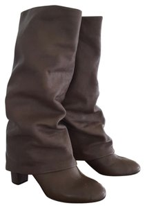 See by Chloé Fold Over Knee Cool brown Boots