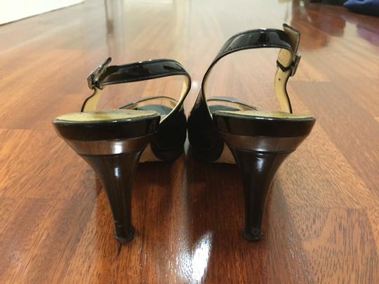 Cole Haan Air Comfortable Patent Leather Peep Toe Black Pumps
