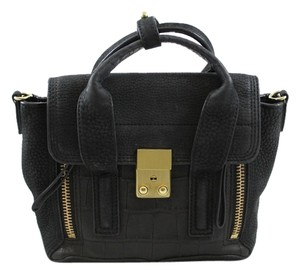 3.1 Phillip Lim Mini Pashli Pashli Satchel Handbag Designer Penny Lane Croc-stamp Leather Mini Cross Body Bag