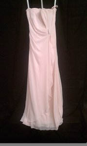 Bill Levkoff Petal Pink Chiffon Destination Bridesmaid/Mob Dress Size 4 (S)