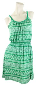 Soprano short dress Green & White on Tradesy