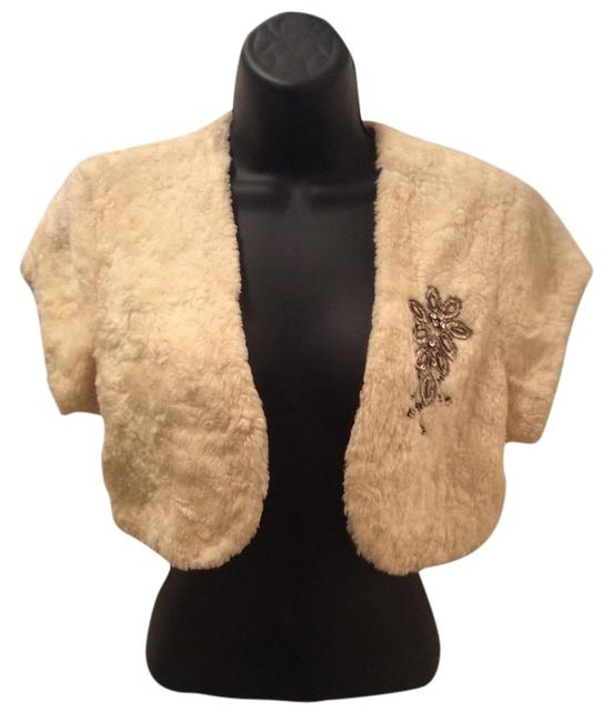 Forever 21 Top Beige with brown flower detailing