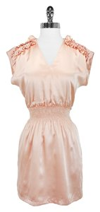 Lauren Moffatt short dress Peach Silk on Tradesy