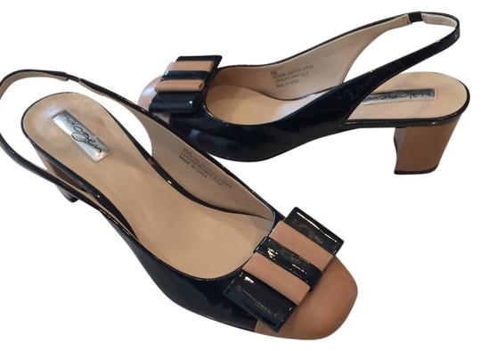 Halogen Tan/Black Sandals
