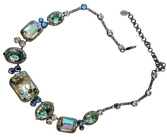 unknown Multi colored crystal statement necklace