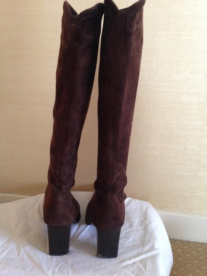 Sergio Rossi Chocolate Brown Boots