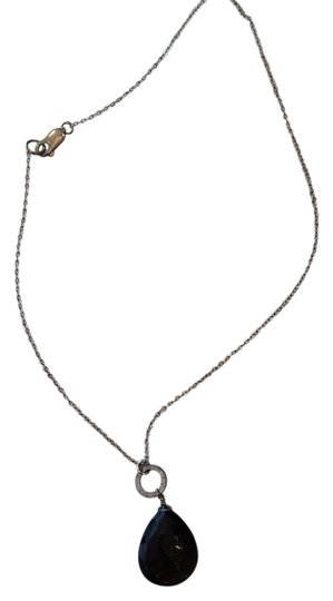 unknown Smokey Topaz and Sterling silver necklace