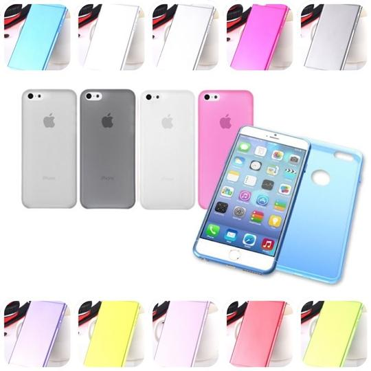 "Other Yellow - IPhone 6 4.7"" TPU Rubber Gel Ultra Thin Case Cover Transparent Glossy 10 Colors Available"