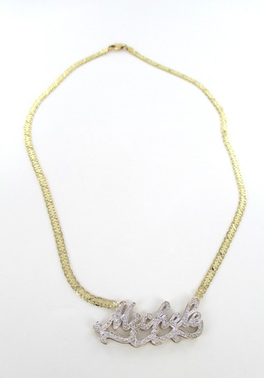 Other 14K SOLID YELLOW GOLD NECKLACE MICHELE PERSONALIZED 78 DIAMONDS .78 CARAT JEWEL