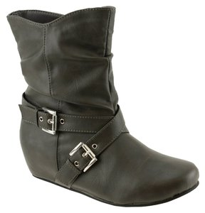 Red Circle Footwear Grey Boots
