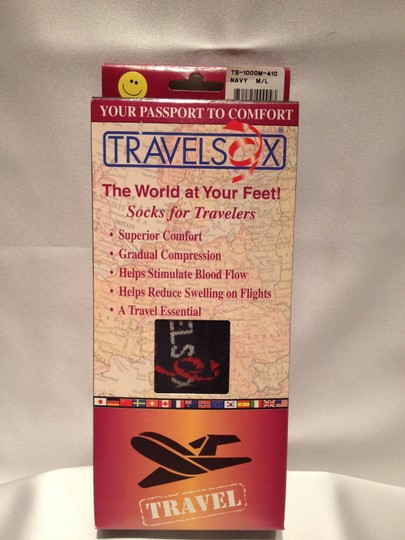 TravelSox TravelSox; Essential Unisex Socks for Travelers (Womens Size 7.5-11/ Men's Size 6.5-9.5)--Black - [ Roxanne Anjou Closet ]