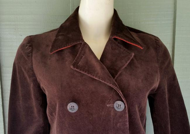 Michael Kors Corduroy Double Breasted Brown Blazer