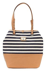 UGG Boots Tote in Ink Blot and Off White Striped with Tan Trim