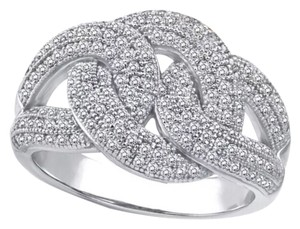 Other New .925 Sterling Silver AAA CZ Stones Knot Wedding/Cocktail Ring Band Sz 7, 8