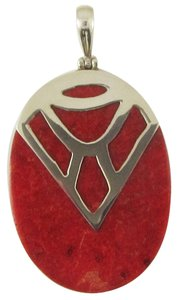 Island Silversmith Island Silversmith Genuine Red Coral 925 Sterling Silver Pendant 0501N *FREE SHIPPING*