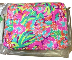 Lilly Pulitzer Lilly Pulitzer Pink Flamingo Lulu Hand Clutch Tech Ipad Tablet Holder