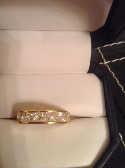 Other stamped 925 Gold color ring with gems
