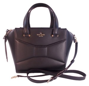 Kate Spade Small Leather Satchel in Black